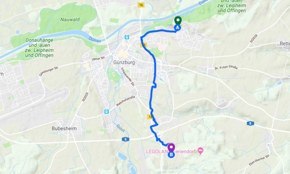 ferienwohnung_guenzburg_Route_Legolandtour