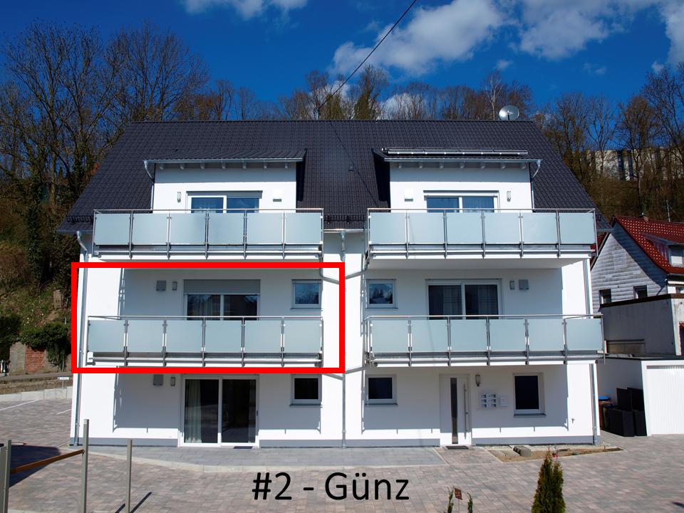 Außenansicht Gästehaus Munk mit Wohnungsdarstellung