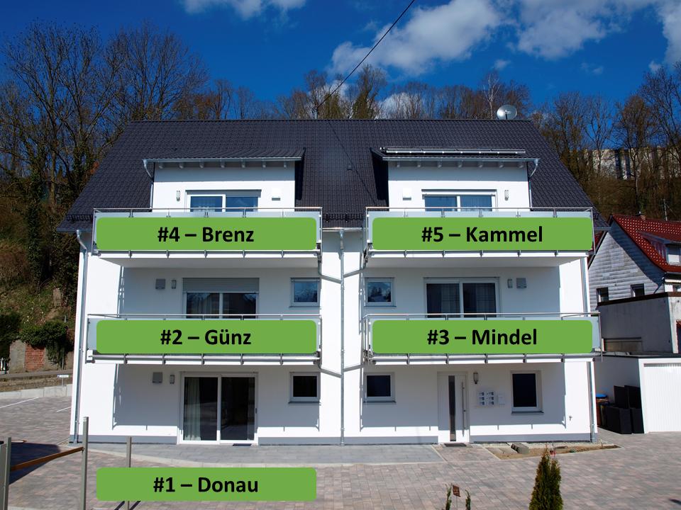 Außenansicht Gästehaus Munk - Wohnungsübersicht